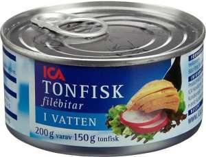 Prøv også Tunfisk, i vann, avrent, hermetisk.