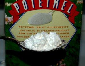 Prøv også Potetmel, potetstivelse.