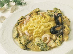 Bilde av Pasta, naturell, fersk, kokt.