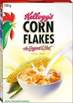 Prøv også Corn flakes.