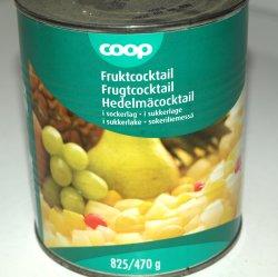 Bilde av Fruktcocktail, hermetisk, med sukkerlake.