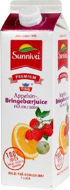 Prøv også Tine Sunniva Premium Appelsinjuice med Bringebær fra Vik i Sogn.