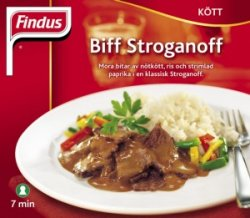 Prøv også Findus Biff Stroganoff.
