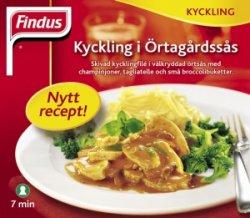 Bilde av Findus kyckling i Urtegårdssaus.