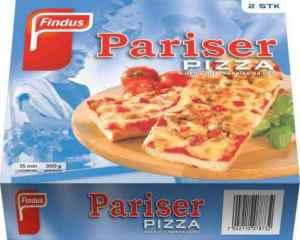 Prøv også Findus Pariserpizza.