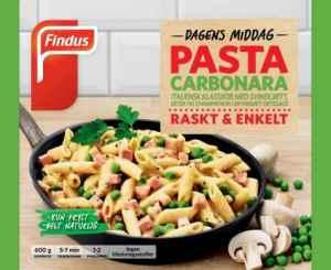 Prøv også Findus Pasta Carbonara.