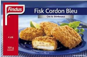 Bilde av Findus Fisk Cordon Bleu Ost og skinkesaus.
