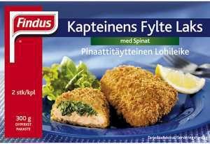Bilde av Findus Kapteinens fylte laks med spinat.