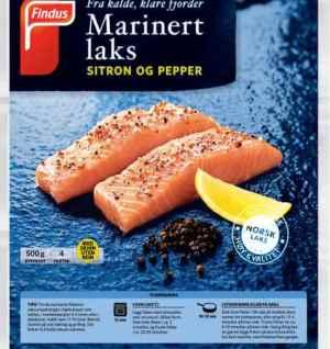 Prøv også Findus marinert Laks Sitron og Pepper.