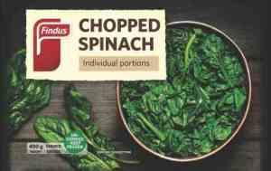 Prøv også Findus Hakket Spinat.