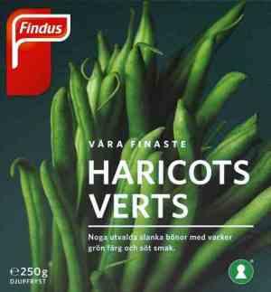 Prøv også Findus Haricots Verts.