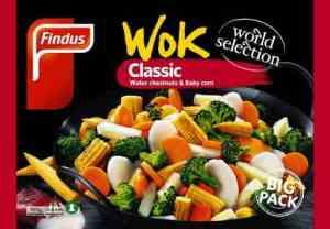 Prøv også Findus Wok Big Pack.