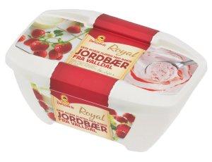 Prøv også Diplom ekte norsk fløteis med rørte jordbær fra valldal.