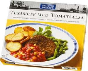 Prøv også Texasbiff i tomatsaus, Dafgård.