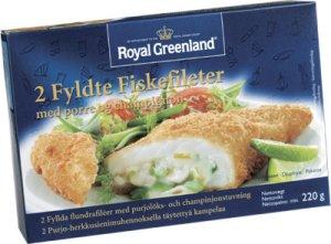 Bilde av Fylt fiskefilet m/purre og champignon, Royal Greenland.