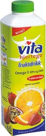 Bilde av Vita hjertego fruktdrikk appelsin og jordbær.