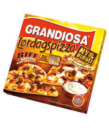 Bilde av Grandiosa Lørdagspizza.