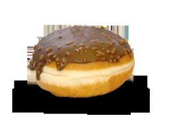 Bilde av Aunt Mabel chocolate ball donut.