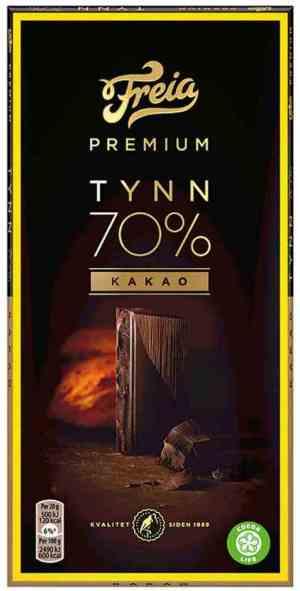 Prøv også Freia Premium 70% kakao.