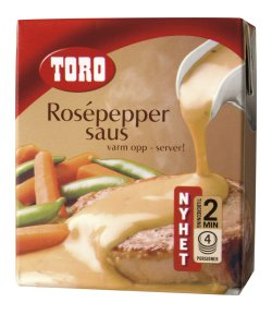 Prøv også Toro flytende rosepeppersaus.