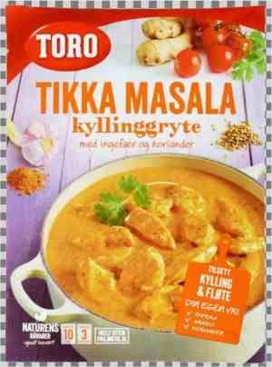 Prøv også Toro indisk gryte tikka masala.