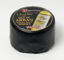 Bilde av Pilgrims Choice Cheddar with Isle of Arran Whiskey.
