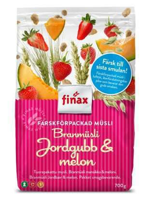 Bilde av Finax BranMusli jordgubb og melon.