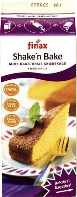 Bilde av Finax Shake´n Bake mjuk kaka.