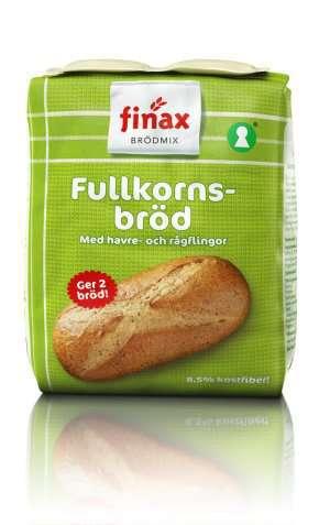 Bilde av Finax Brødmix Fullkornsbrød.