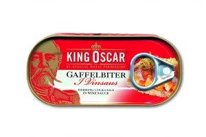 Prøv også King Oscar gaffelbiter i vinsaus.