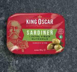 Prøv også King Oscar brislingsardiner i olivenolje.