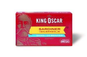 Prøv også King Oscar skinn og beinfrie sardiner i solsikkeolje.