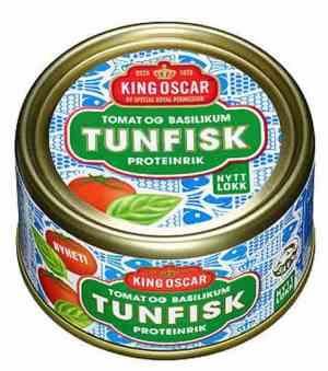 Prøv også King Oscar tunfisk med tomat og basilikum.
