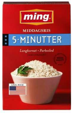 Prøv også Ming langkornet ris.