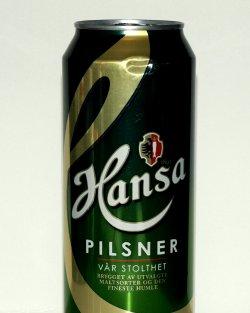 Bilde av Hansa pilsner.