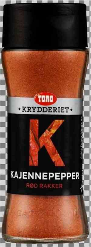 Prøv også Toro Krydderiet Kajennepepper malt.
