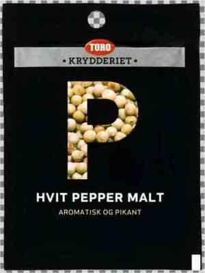 Prøv også Toro Krydderiet Hvit Pepper.