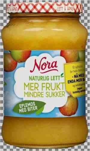 Prøv også Nora Naturlig lett eplemos med biter.