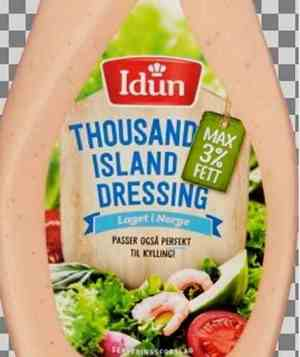 Prøv også Idun thousand island dressing maks 3% fett.