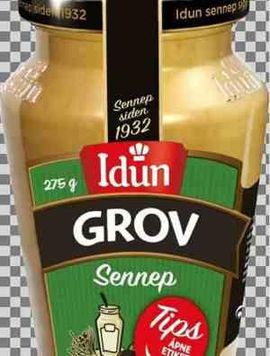 Prøv også Idun sennep grov glass.