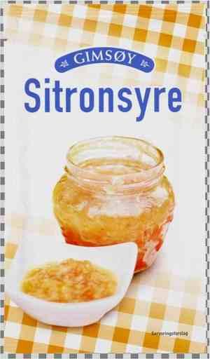 Prøv også Gimsøy sitronsyre.