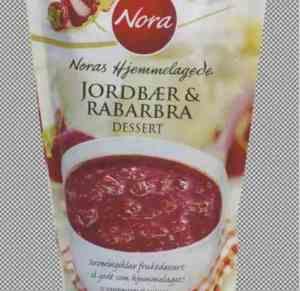 Prøv også Nora jordbær og rabarbra dessert.