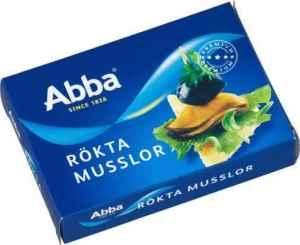 Prøv også Abba rökta musslor i olja.