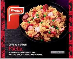 Prøv også Findus paella.