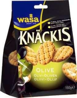 Prøv også Wasa Knäckis Oliven.