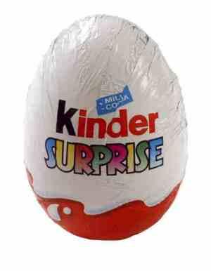 Prøv også Kinder Surprise.