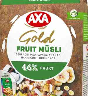 Prøv også AXA gold musli fruit.