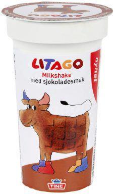 Bilde av Tine Litago Milkshake med sjokoladesmak.