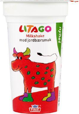 Bilde av Tine Litago Milkshake med jordbærsmak.