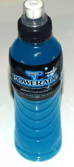 Prøv også Powerade Isotonic sportsdrink.